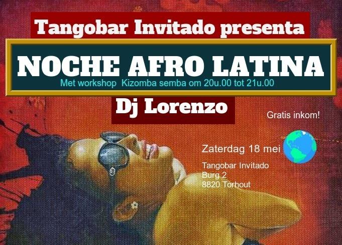 Noche Afro-Latina te Torhout met DJ Lorenzo