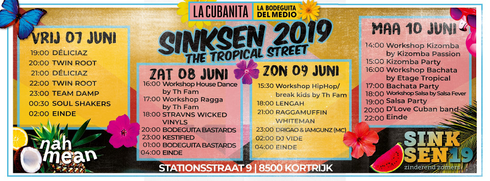 Kizomba workshop tijdens Sinksen Kortrijk – Tropical Street Party