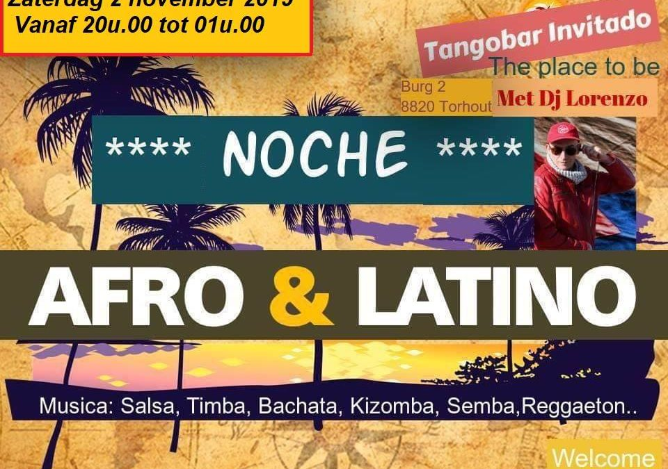 Noche Afro-Latina te Torhout op 2/11/19 met DJ Lorenzo